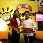 PHOTO CAPTION - Bianca de Silva, Brand Manager - Marmite, of Unilever Sri Lanka and celebrity chocolatier Gerard Mendis with the first batch of Chocolate-Mite.